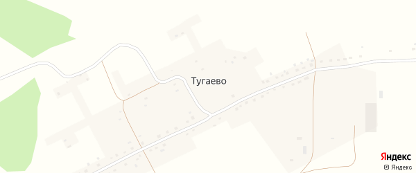 Новая улица на карте села Тугаево с номерами домов