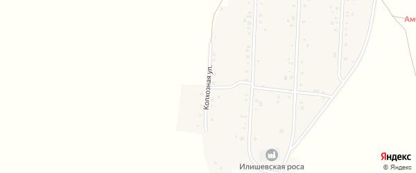 Колхозная улица на карте села Андреевки с номерами домов