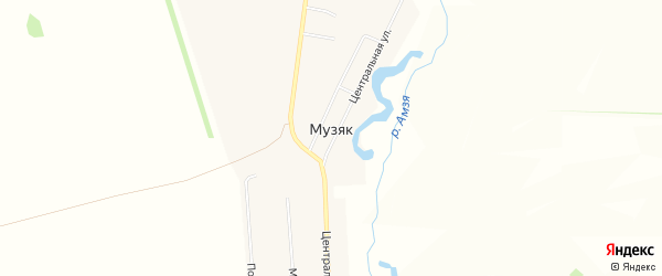 Карта села Музяка в Башкортостане с улицами и номерами домов