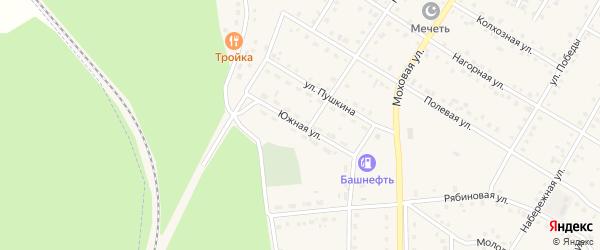 Южная улица на карте села Амзи с номерами домов