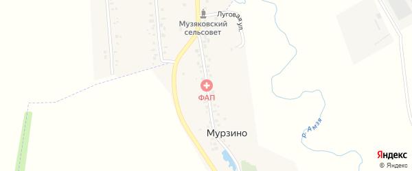 Садовая улица на карте деревни Мурзино с номерами домов