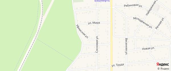 Уфимская улица на карте села Амзи с номерами домов