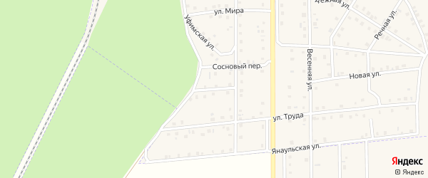 Западная улица на карте села Амзи с номерами домов