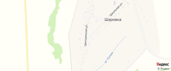 Центральная улица на карте деревни Шаровки с номерами домов