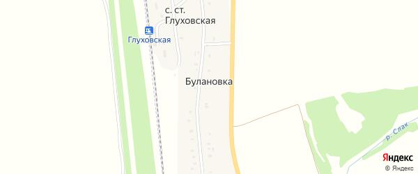 Центральная улица на карте деревни Булановки с номерами домов