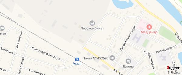 Улица Свердлова на карте села Амзи с номерами домов