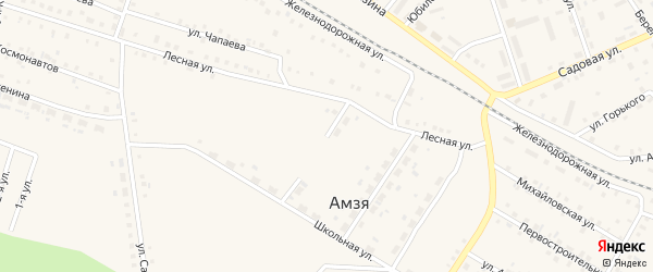 Улица Свободы на карте села Амзи с номерами домов