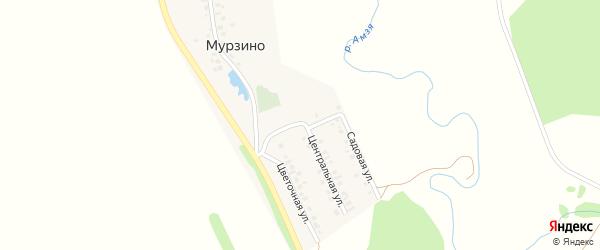 Солнечный переулок на карте деревни Мурзино с номерами домов