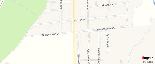 Янаульская улица на карте села Амзи с номерами домов