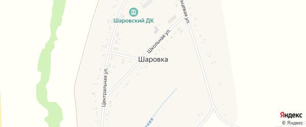 Школьная улица на карте деревни Шаровки с номерами домов