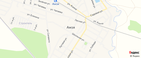 СНТ Строитель СУ ЭПЖС на карте села Амзи с номерами домов