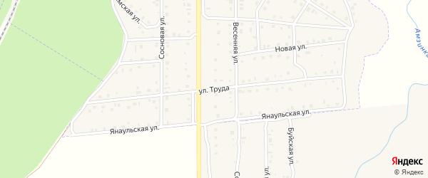 Улица Труда на карте села Амзи с номерами домов