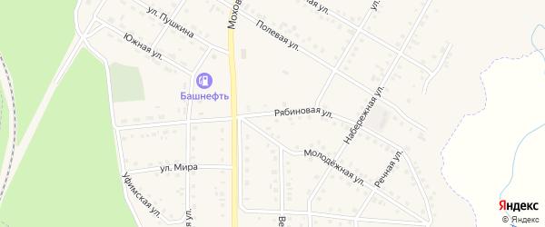 Рябиновая улица на карте Нефтекамска с номерами домов