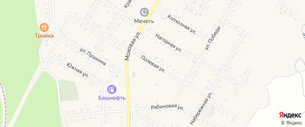 Полевая улица на карте села Амзи с номерами домов