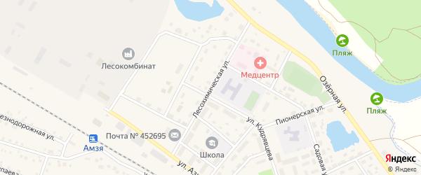 Лесохимическая улица на карте села Амзи с номерами домов
