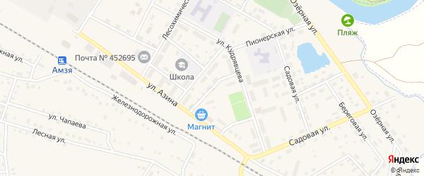 Юбилейный переулок на карте села Амзи с номерами домов