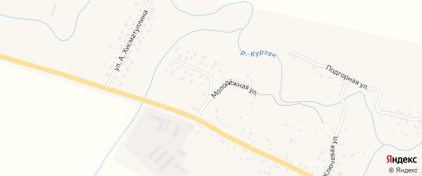 Молодежная улица на карте села Кенгера-Менеуза с номерами домов