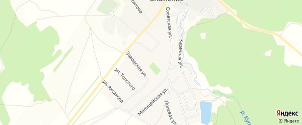 Карта села Знаменки в Башкортостане с улицами и номерами домов