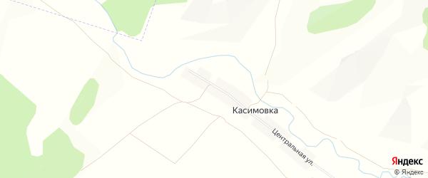 Карта деревни Касимовки в Башкортостане с улицами и номерами домов