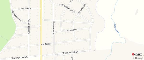 Новая улица на карте села Кумова с номерами домов