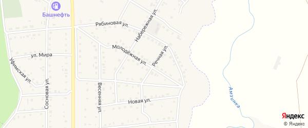 Речная улица на карте села Амзи с номерами домов