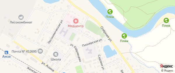 Никольская улица на карте села Амзи с номерами домов