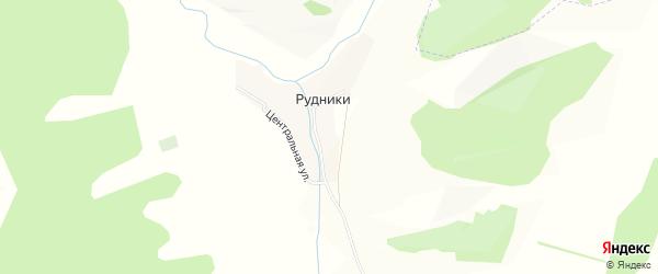 Карта деревни Рудники в Башкортостане с улицами и номерами домов