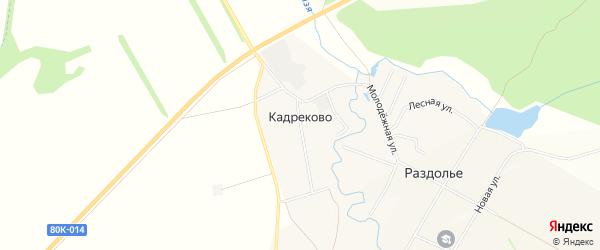 Карта деревни Кадреково в Башкортостане с улицами и номерами домов