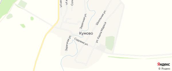 Карта села Кумова в Башкортостане с улицами и номерами домов