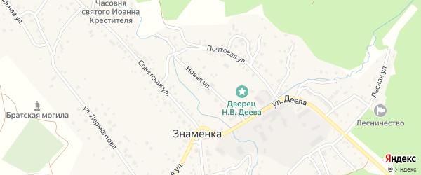 Почтовая улица на карте села Знаменки с номерами домов
