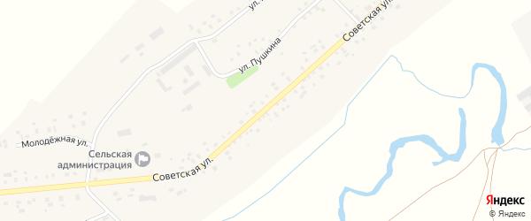 Советская улица на карте села Нижнечерекулево с номерами домов