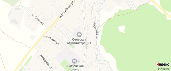 Заводская улица на карте села Знаменки с номерами домов