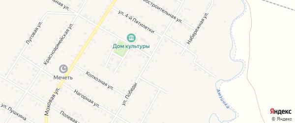 Улица Победы на карте села Амзи с номерами домов