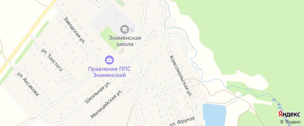 Речной переулок на карте села Знаменки с номерами домов