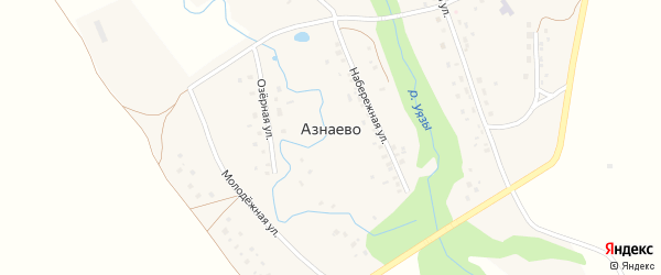 Улица Булата Имашева на карте села Азнаево с номерами домов
