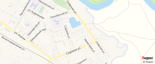 Пролетарская улица на карте села Амзи с номерами домов