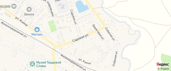 Садовая улица на карте села Амзи с номерами домов