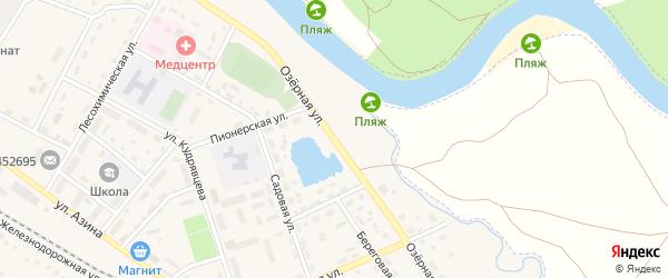 Озерная улица на карте села Амзи с номерами домов