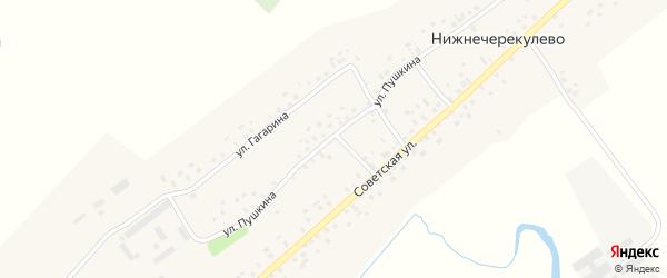 Улица Пушкина на карте села Нижнечерекулево с номерами домов
