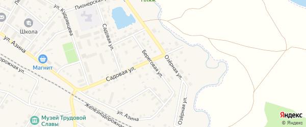 Береговая улица на карте села Амзи с номерами домов