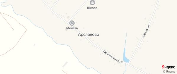 Новая улица на карте села Арсланово с номерами домов