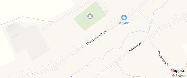 Центральная улица на карте деревни Ялтыркулбаша с номерами домов