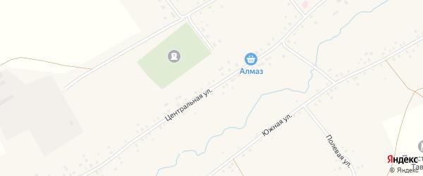 Центральная улица на карте села Старотавларово с номерами домов