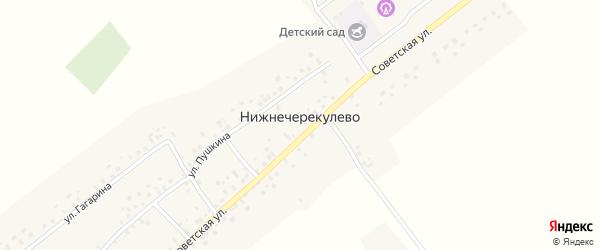 Улица С.Юлаева на карте села Нижнечерекулево с номерами домов