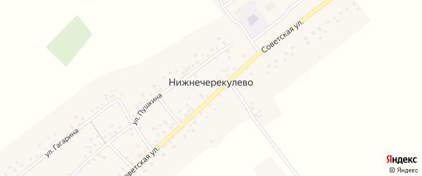 Улица А.Абдуллина на карте села Нижнечерекулево с номерами домов