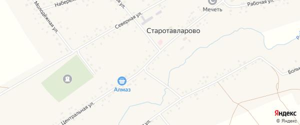 Школьная улица на карте села Старотавларово с номерами домов
