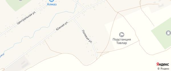 Полевая улица на карте села Старотавларово с номерами домов