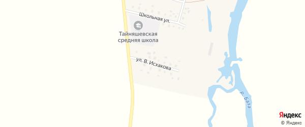 Улица В.Исхакова на карте села Тайняшево с номерами домов