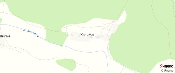 Карта деревни Хазимана в Башкортостане с улицами и номерами домов