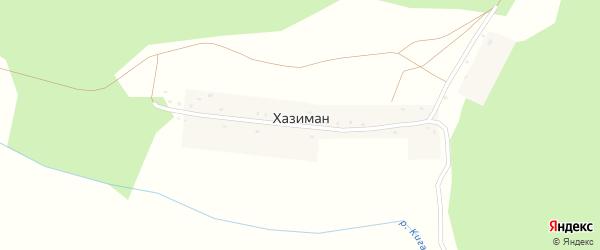 Лесная улица на карте деревни Хазимана с номерами домов